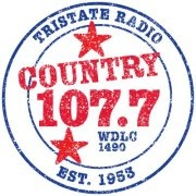 WDLC Country 107.7 Logo