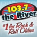 103.7 The River - KODS Logo