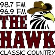 98.7 The Hawk - KHKM Logo