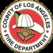 Los Angeles County Fire - Blue 1, 3, 6, and 12 Logo