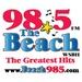 98.5 The Beach - WSBH Logo